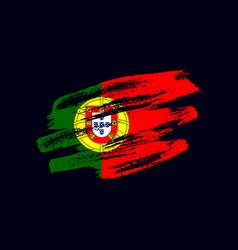 Grunge textured portuguese flag vector