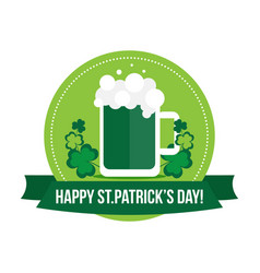happy st patricks day label banner badge vector image
