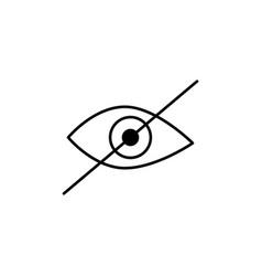 hide icon vector image