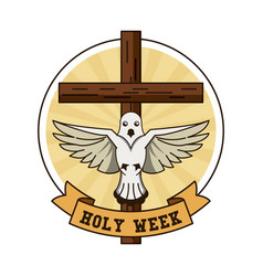 Holy week catholic tradition vector