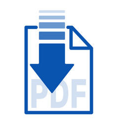 Isolated blue arrow icon button with white paper vector