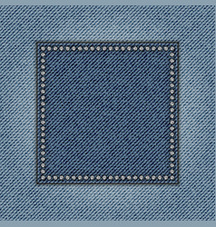 jeans square vector image