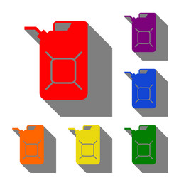 Jerrycan oil sign jerry can oil sign set red vector