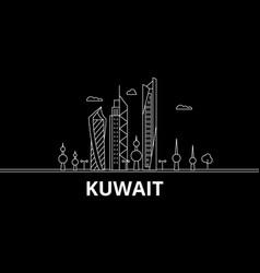 Kuwait silhouette skyline city kuwaiti vector