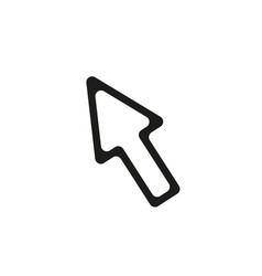line cursor icon vector image