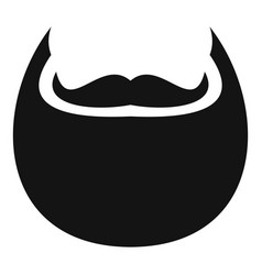 man beard icon simple style vector image