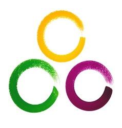 Mardi Gras acrylic circles vector