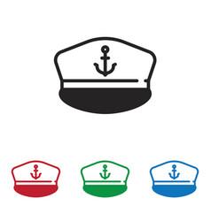marine hat icon vector image