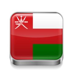 Metal icon of Oman vector