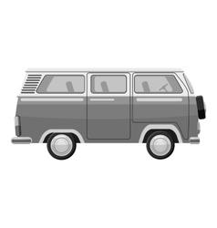 Mini bus icon gray monochrome style vector