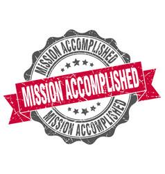 mission accomplished stamp sign seal vector image