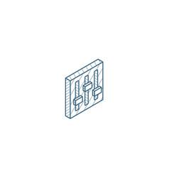 mixer setup isometric icon 3d line art technical vector image