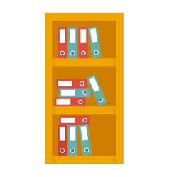 Office shelf folder icon flat style vector