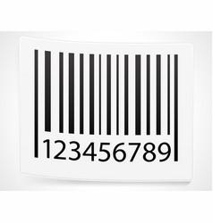 peeling barcode sticker vector image