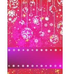 Pink Christmas Background EPS 8 vector image