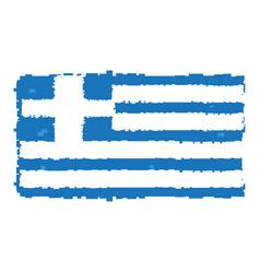 pixelated flag of greece vector image