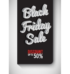 Poster Black Friday Black-and-white background vector image
