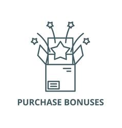 Purchase bonuses line icon linear concept vector