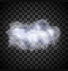 Realistic isolated cloud on transparent background vector