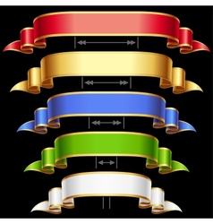ribbon set vector image