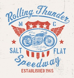 Rolling Thunder Vintage Motorcycle Graphic vector image