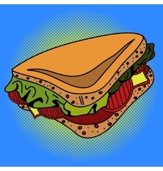 Sandwich Pop art vector image