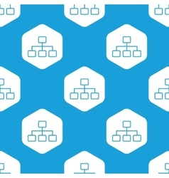 Scheme hexagon pattern vector image