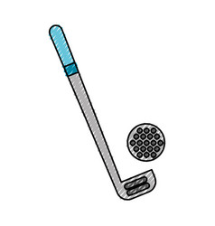 scribble golf club and ball vector image