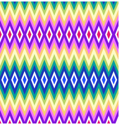 Seamless geometric rhombus color pattern vector