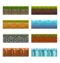 Seamless landscape square elements Big set vector
