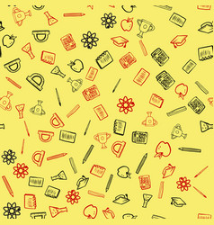 seamless pattern for back to school card vector image