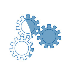 Set gear wheel cog cooperation teamwork concept vector