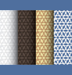 Set of abstract colorful seamless islamic patterns vector