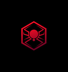 spider emblem logo animal logo design concept vector image