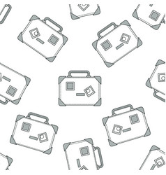 suitcase or travel bags seamless pattern baggage vector image