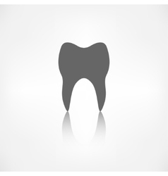 Tooth web icon vector image