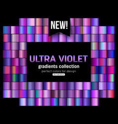 Ultra violet background collection purple green vector