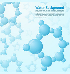 Water molecules background vector