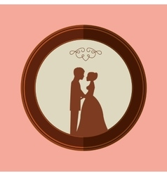wedding frame design vector image