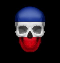 Yugoslavian flag skull vector