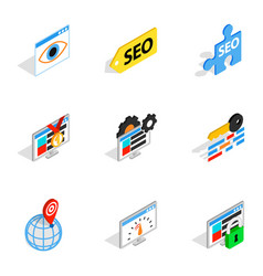 analytics search information icons vector image vector image