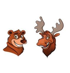 Bear and moose vector