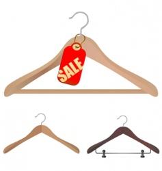 hanger shopping concept vector image vector image