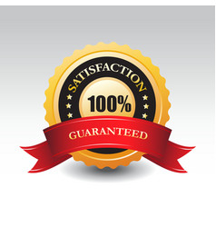 100 satisfaction guaranteed label or sign vector image