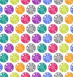 Cartoon gems seamless pattern vector image