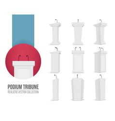 creative of podium tribune vector image