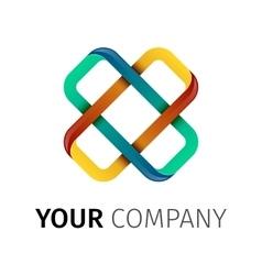 Cross Logo X letter vector image