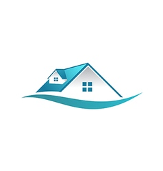 house roof construction business logo vector image