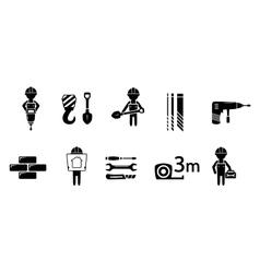industrial concept icon set vector image vector image