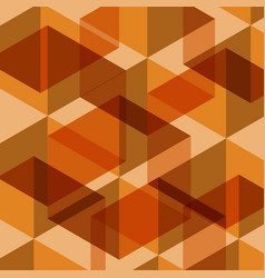 abstract orange geometric template background vector image vector image